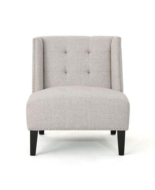 Noble House Takara Slipper Chair, Quick Ship