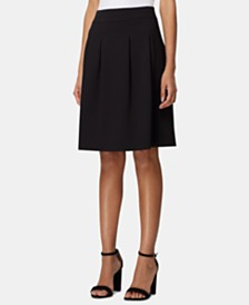 Tahari ASL Inverted-Pleat Skirt