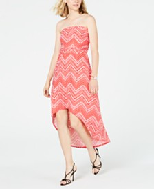 Ultra Flirt Juniors' Strapless High-Low Maxi Dress
