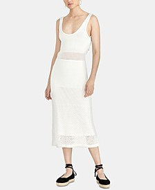 Aurora Tie-Back Mesh Sweater Dress