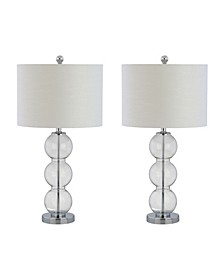 Bella Glass Triple-Sphere LED Table Lamp - Set of 2