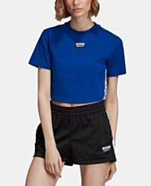 d3d4b5f005bb8f adidas Originals Cotton Cropped T-Shirt