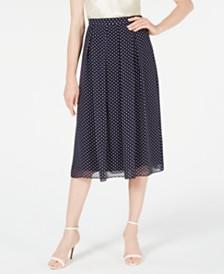 Anne Klein Printed A-Line Skirt
