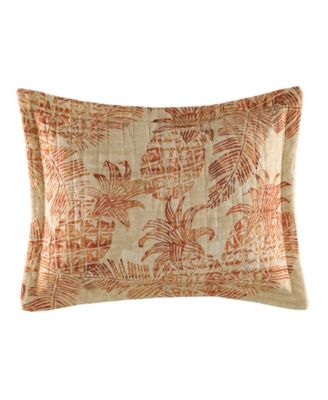 Tommy Bahama Batik Pineapple Coral Breakfast Pillow