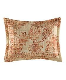 Tommy Bahama Batik Pineapple Coral Breakfast Pillow