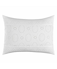 Tommy Bahama Siesta Key Pineapple Eyelet White European Sham