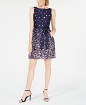 49e70caa06 Anne Klein Printed Fit & Flare Dress