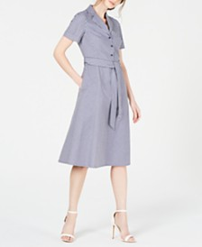 Anne Klein Striped Shirtdress