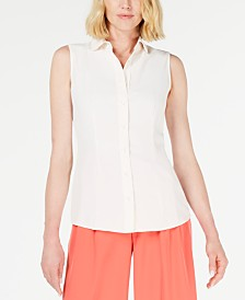 Anne Klein Peter Pan Sleeveless Blouse