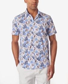 Tallia Men's Crane Floral Slim Fit Woven Shirt