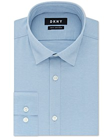 Men's Slim-Fit Performance Active Stretch Streak Solid Dress Shirt, Created for Macy's