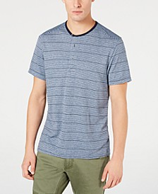 INC Men's Striped Henley, Created for Macy's