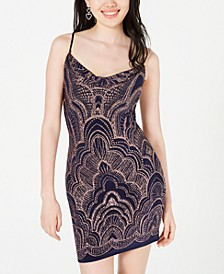 Juniors' Glitter-Print Bodycon Dress