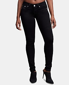 True Religion Stella Black Low-Rise Skinny Jeans