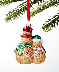 At the Beach Sand Snowman Ornament, Created for Macy's