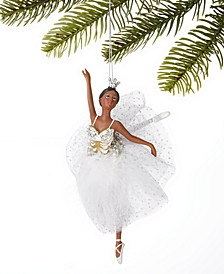 Ballet Ballerina with White  Tutu Ornament, Created for Macy's