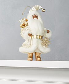 """8""""H African American Santa Ornament with Snowflake and Gift Bag, Created for Macy's"""