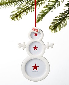 Holiday Lane Santa's Favorites Snowman Photo Frame Ornament, Created for Macy's