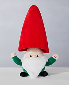 """11""""H Animated Plush Gnome with Moving Hat and Light up Nose, Sings """"Shout!"""", Created for Macy's"""