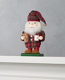 Santa in Plaid Pajamas Nutcracker, Created for Macy's