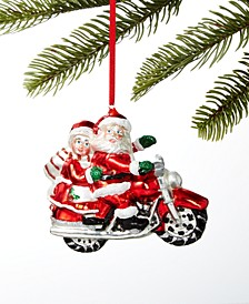 Santa's Favorites Santa & Mrs. Claus on Motorcycle Ornament, Created For Macy's