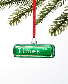 New York Times Square Street Sign Ornament, Created for Macy's