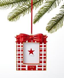 Holiday Lane Santa's Favorites Plaid Photo Frame Ornament, Created for Macy's