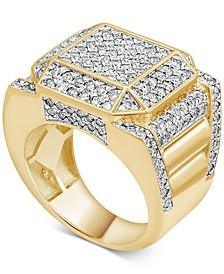 Men's Diamond Cube Cluster Ring (2-1/2 ct. t.w.) in 10k Gold