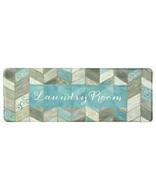"Chevron Laundry 20""x55"" Memory Foam Runner"