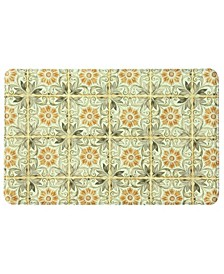 "Hygge Tiles Cocoa 22""x35"" Memory Foam Rectangle Rug"