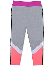 Calvin Klein Big Girls Colorblocked Capri Leggings