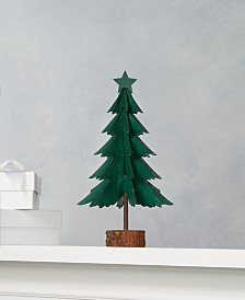 Martha Stewart Collection Farmhouse Holidays Green Tabletop Tree, Created for Macy's
