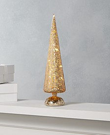 "Midnight Blue 12"" Gold LED Glass Tree, Created for Macy's"