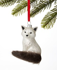 Holiday Lane Spotted Owl Silver Fox Ornament, Created for Macy's