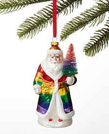 Holiday Lane Love is Love Rainbow Santa Ornament, Created for Macy's