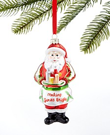Spirits Cocktail Santa Ornament, Created for Macy's