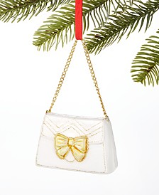 Holiday Lane Fashion Week Handbag with Bowtie Ornament, Created For Macy's
