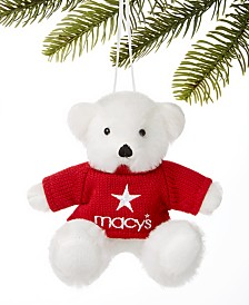 Holiday Lane Macy's Bear in Red Sweater Ornament, Created For Macy's