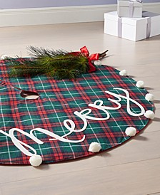"Tartan Plaid ""Merry"" Tree Skirt, Created for Macy's"