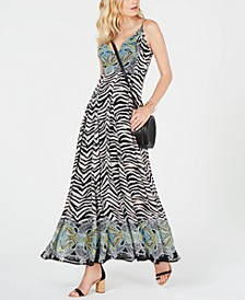 INC Zebra-Print Maxi Dress, Created for Macy's