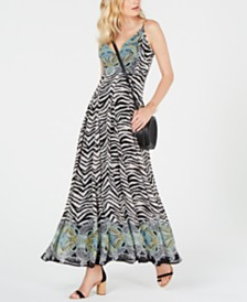 I.N.C. Zebra-Print Maxi Dress, Created for Macy's