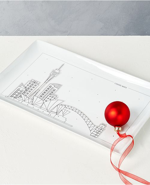 The Cellar Holiday Cityscape Platter, Created for Macy's