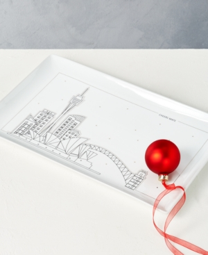 Closeout! The Cellar Holiday Cityscape Platter, Created for Macy's
