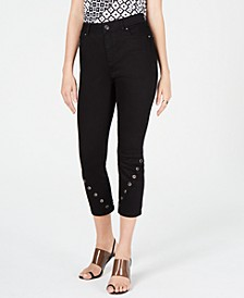 INC Grommet-Detail Skinny Crop Jeans, Created for Macy's