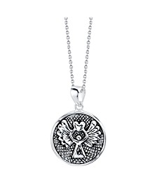 """Guardian Angel"" Pendant Necklace in Two-Tone Sterling Silver, 18"" Chain"