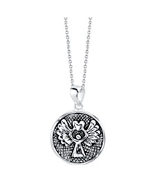 "Unwritten ""Guardian Angel"" Pendant Necklace in Two-Tone Sterling Silver, 18"" Chain"
