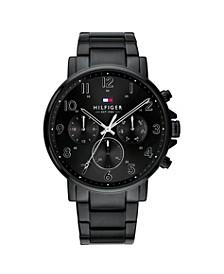 Mens Black Stainless Steel Bracelet Watch 44mm , Created for Macys