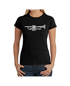 Women's Word Art T-Shirt - Trumpet
