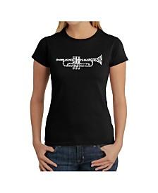 Women's Word Art T-Shirt - Trumpet