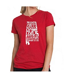 Women's Premium Word Art T-Shirt - Sweet Home Alabama